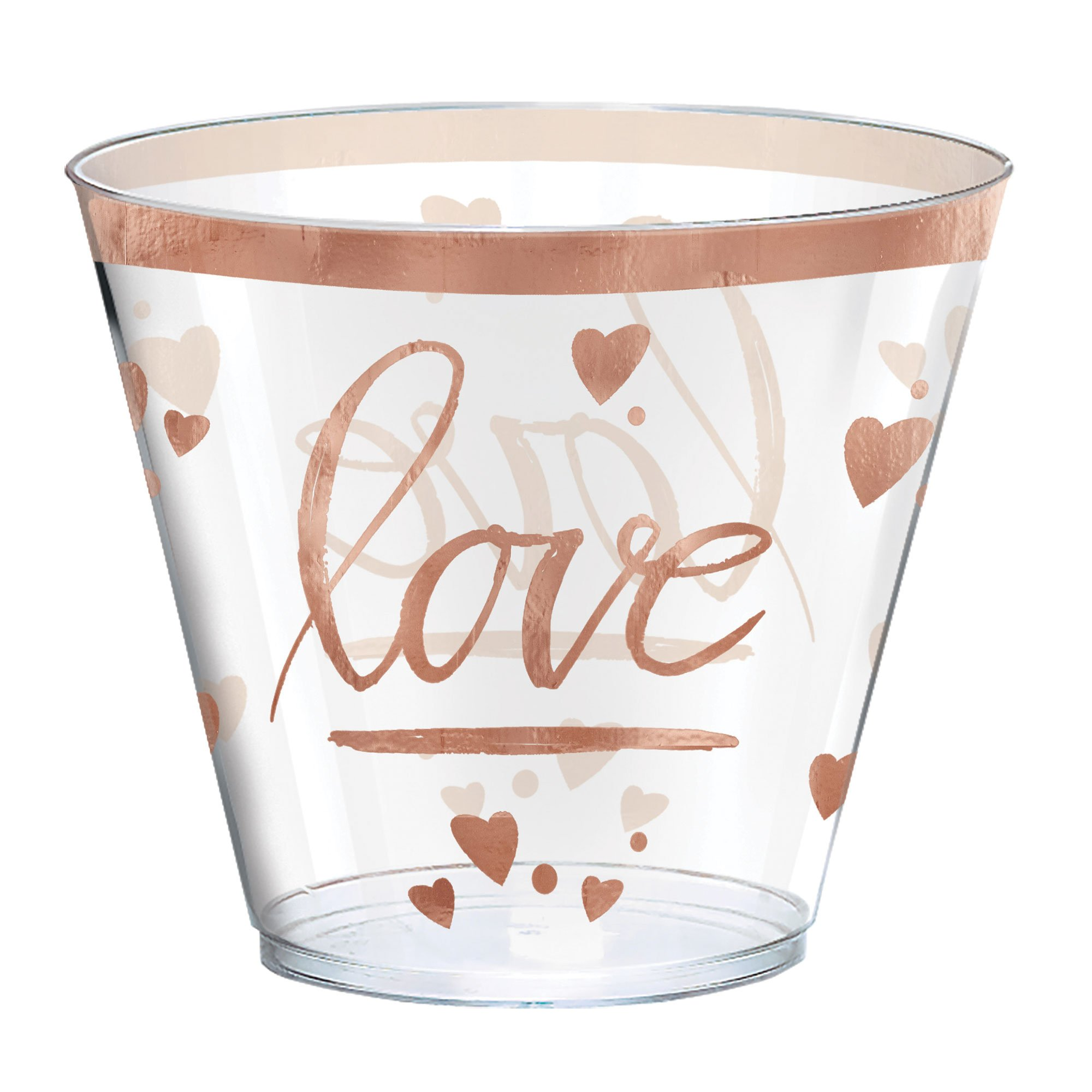 Navy Bride Plastic Tumblers Love Hot Stamped