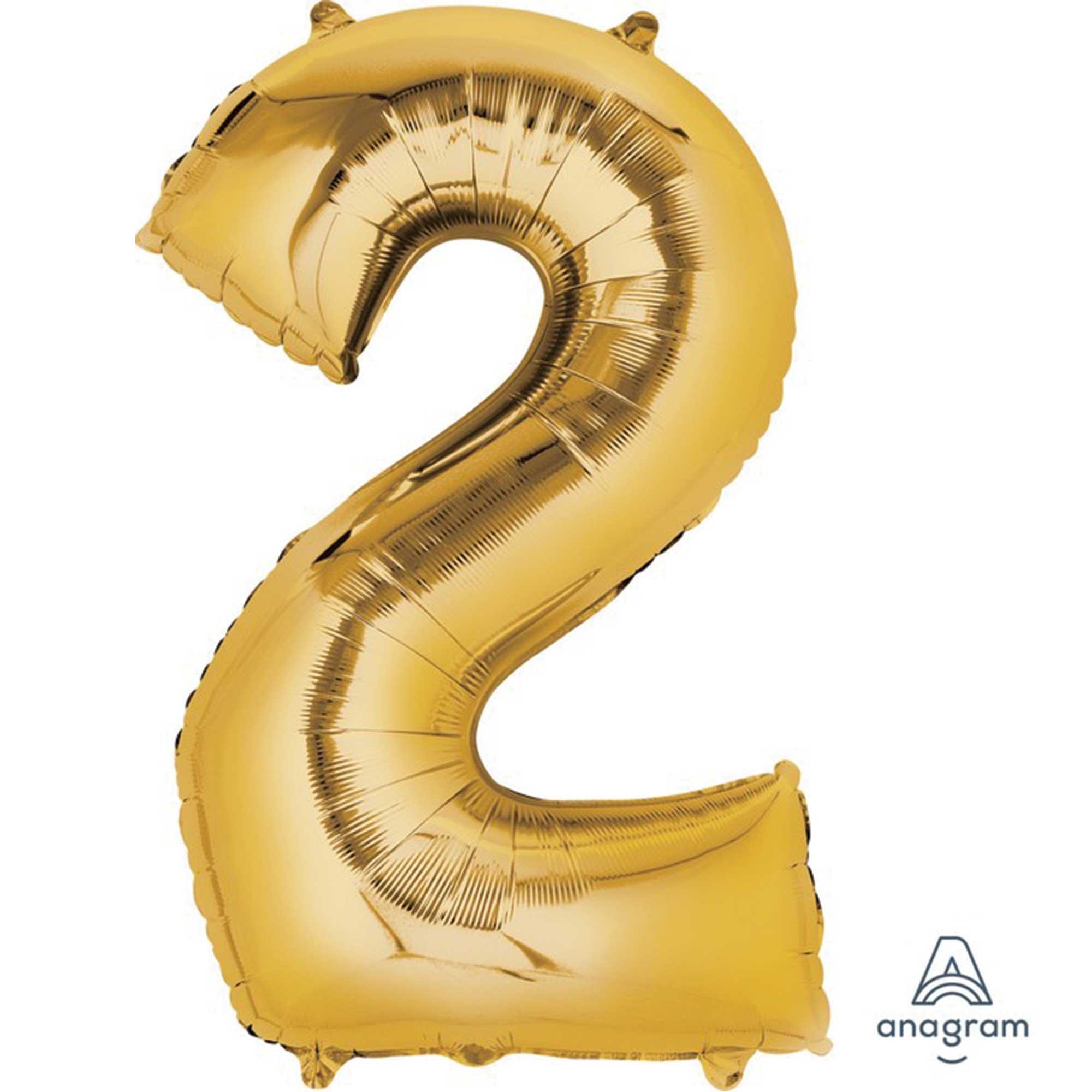SuperShape Gold Numeral 2.  86cm L34
