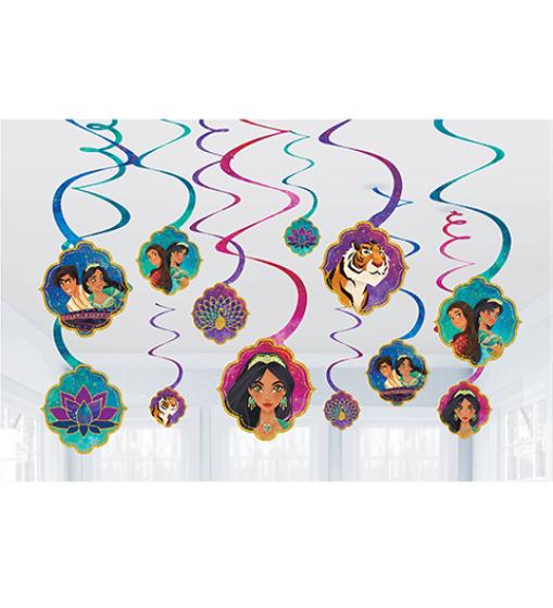 Aladdin Spiral Hanging Swirl Decorations