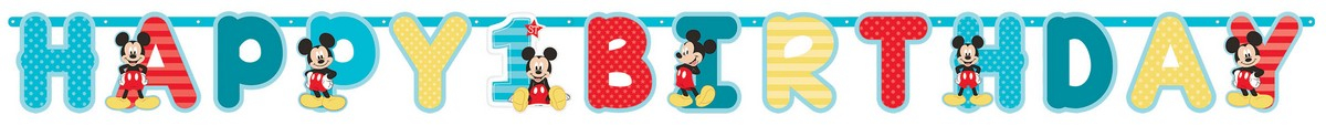 Mickey Fun To Be One Jumbo Letter Banner Kit