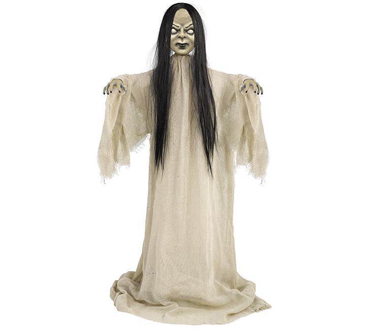 Standing Creepy Girl Prop Decoration Fabric & Plastic