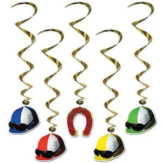 Jockey Hats Derby Day Hanging Decoration Whirls