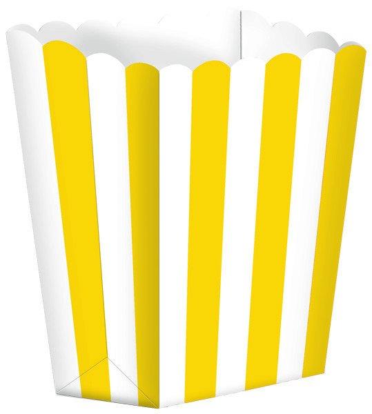 Popcorn Favor Boxes Small Stripe Sunshine Yellow