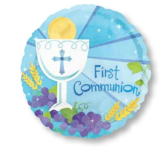 45cm Standard XL 1st Communion Blue S40