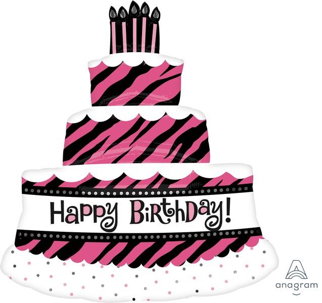 SuperShape XL Oh So Fabulous Happy Birthday Triple Layer Cake P35