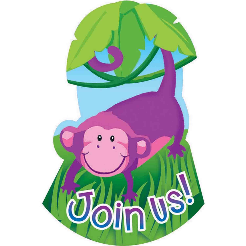 Jungle Animals Postcard Invitations