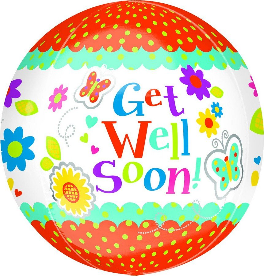 Orbz XL Get Well Soon Floral Butterfly G20