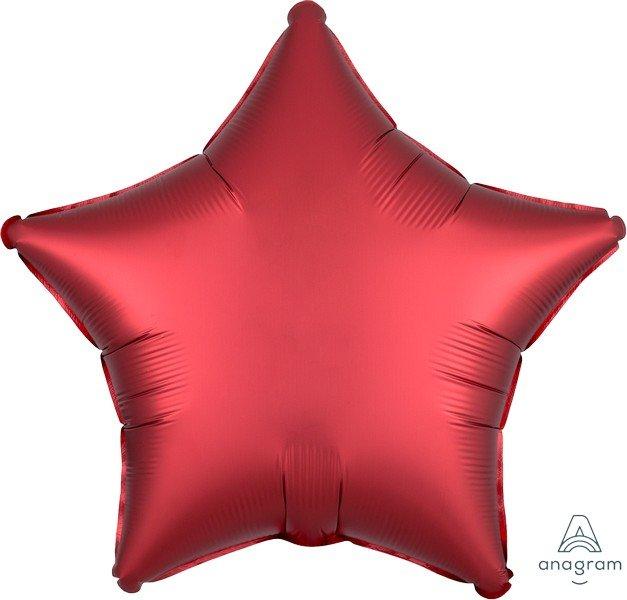 45cm Standard XL Satin Luxe Sangria Star S15