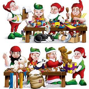 Cutouts Santa's Workshop