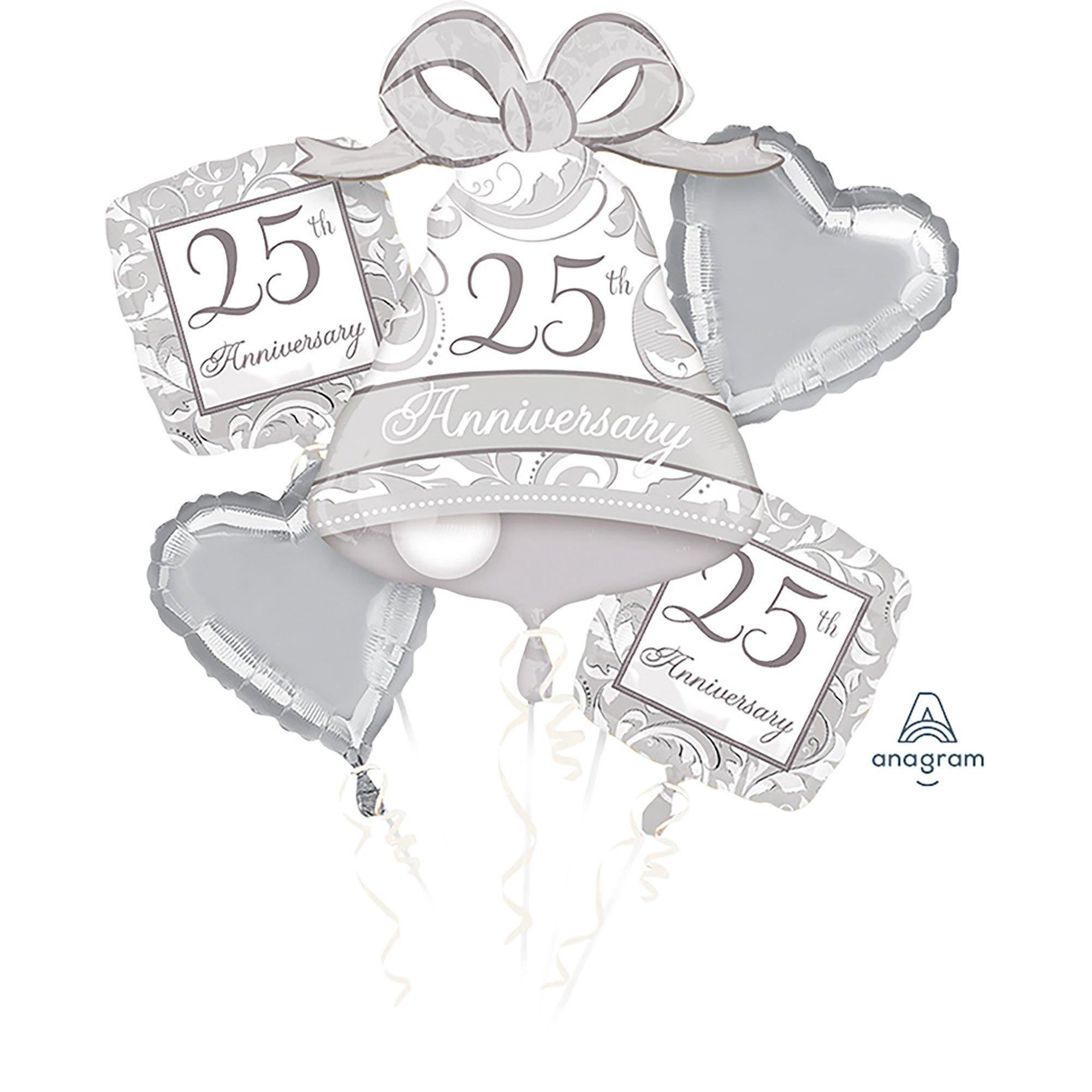 Bouquet Silver Scroll 25th Anniversary P75