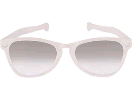 Jumbo Glasses - White