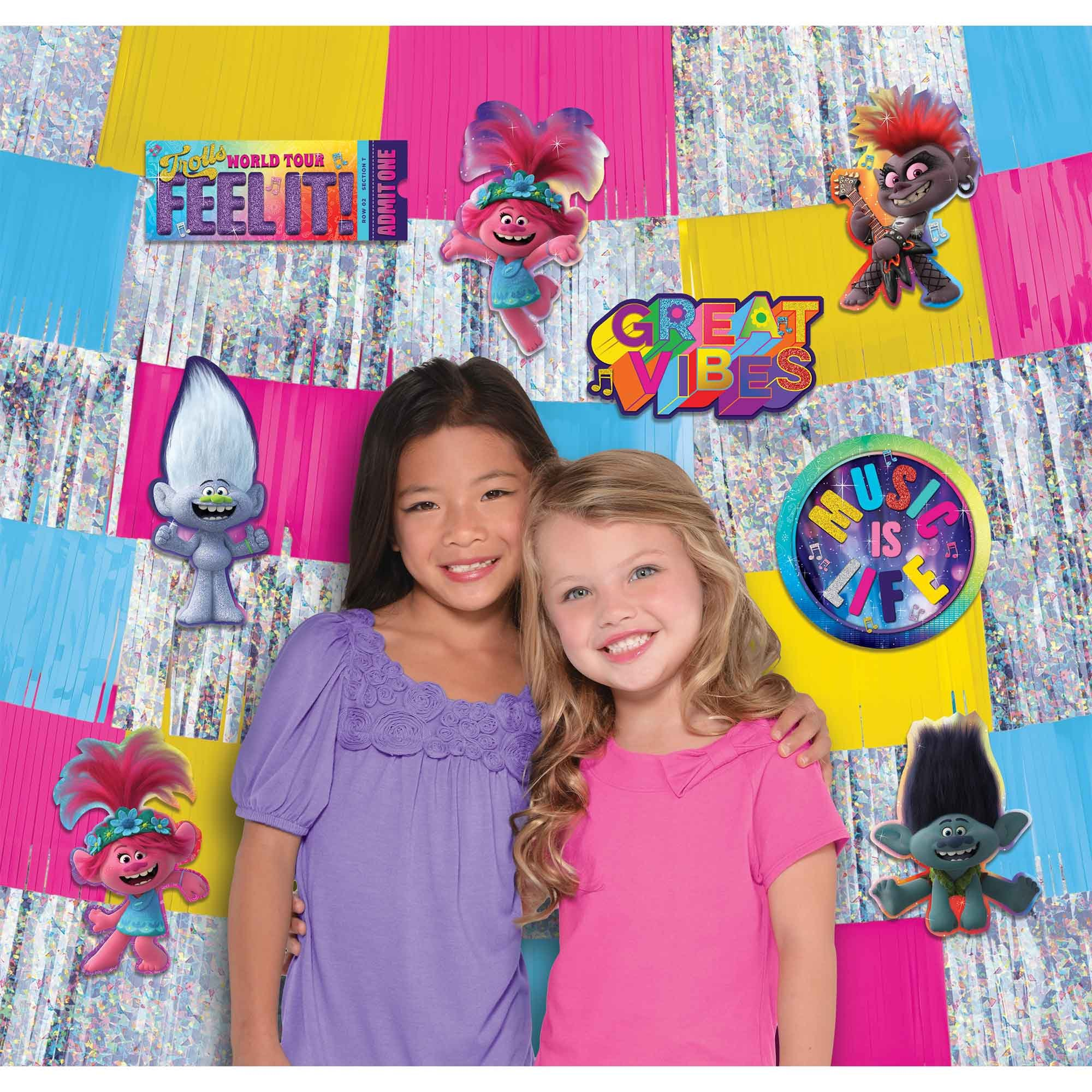 Trolls World Tour Deluxe Backdrop Decorating Kit