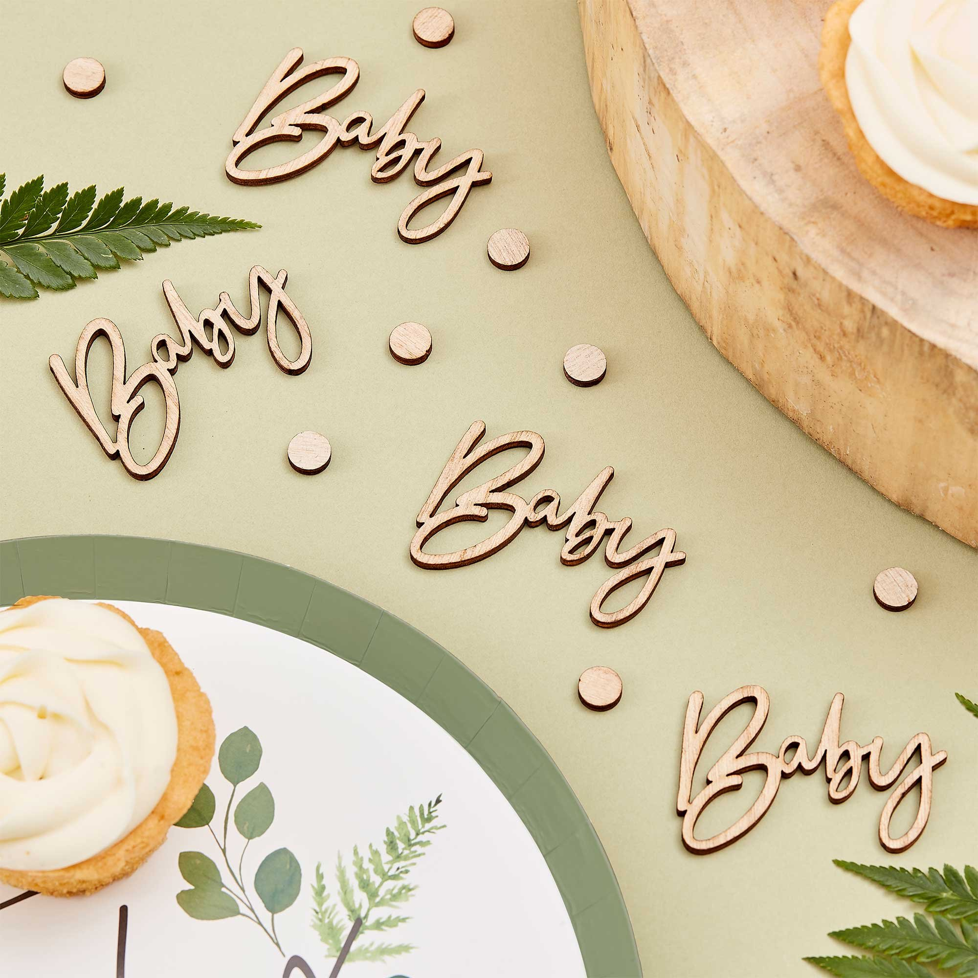 Botanical Baby Wooden Baby Confetti