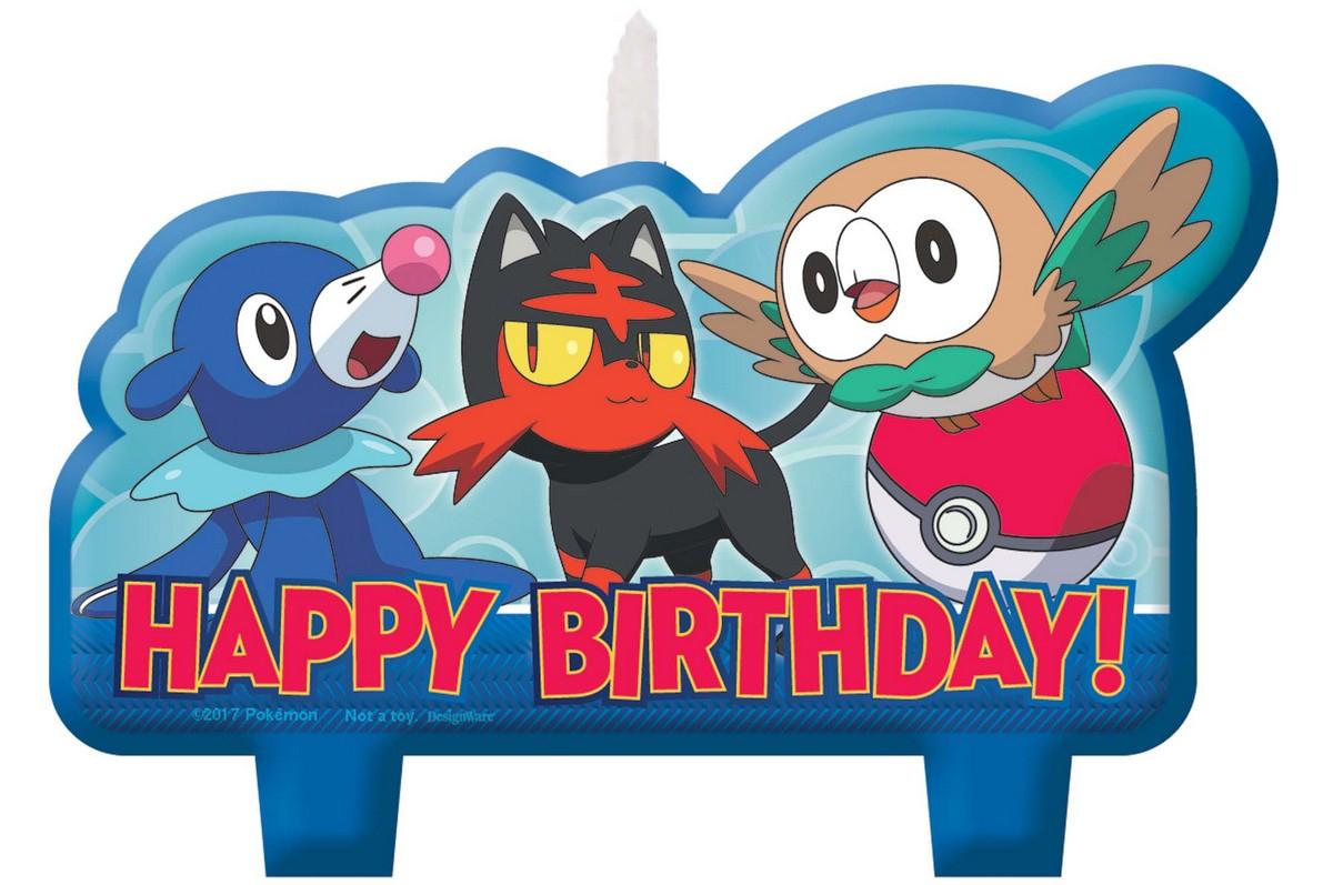 Pokemon Core Birthday Candle Set