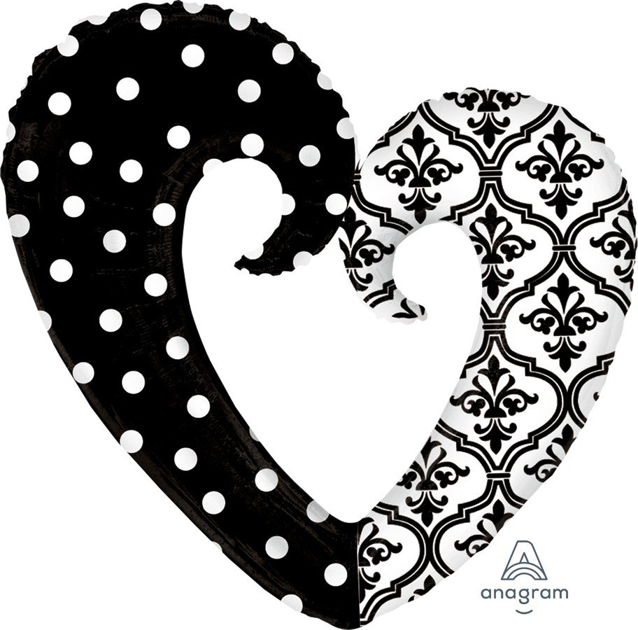 SuperShape XL Damask & Dots Heart P35