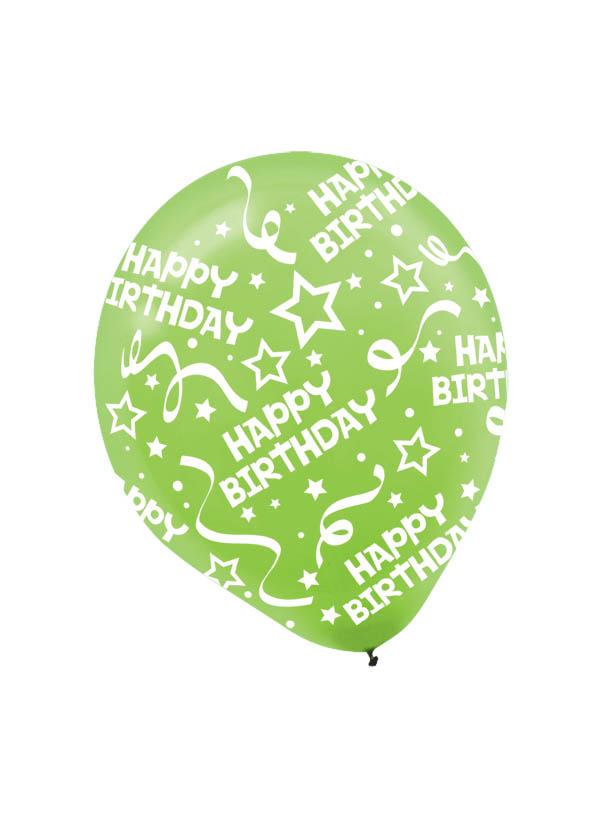 30cm Latex Balloon  Birthday Kiwi