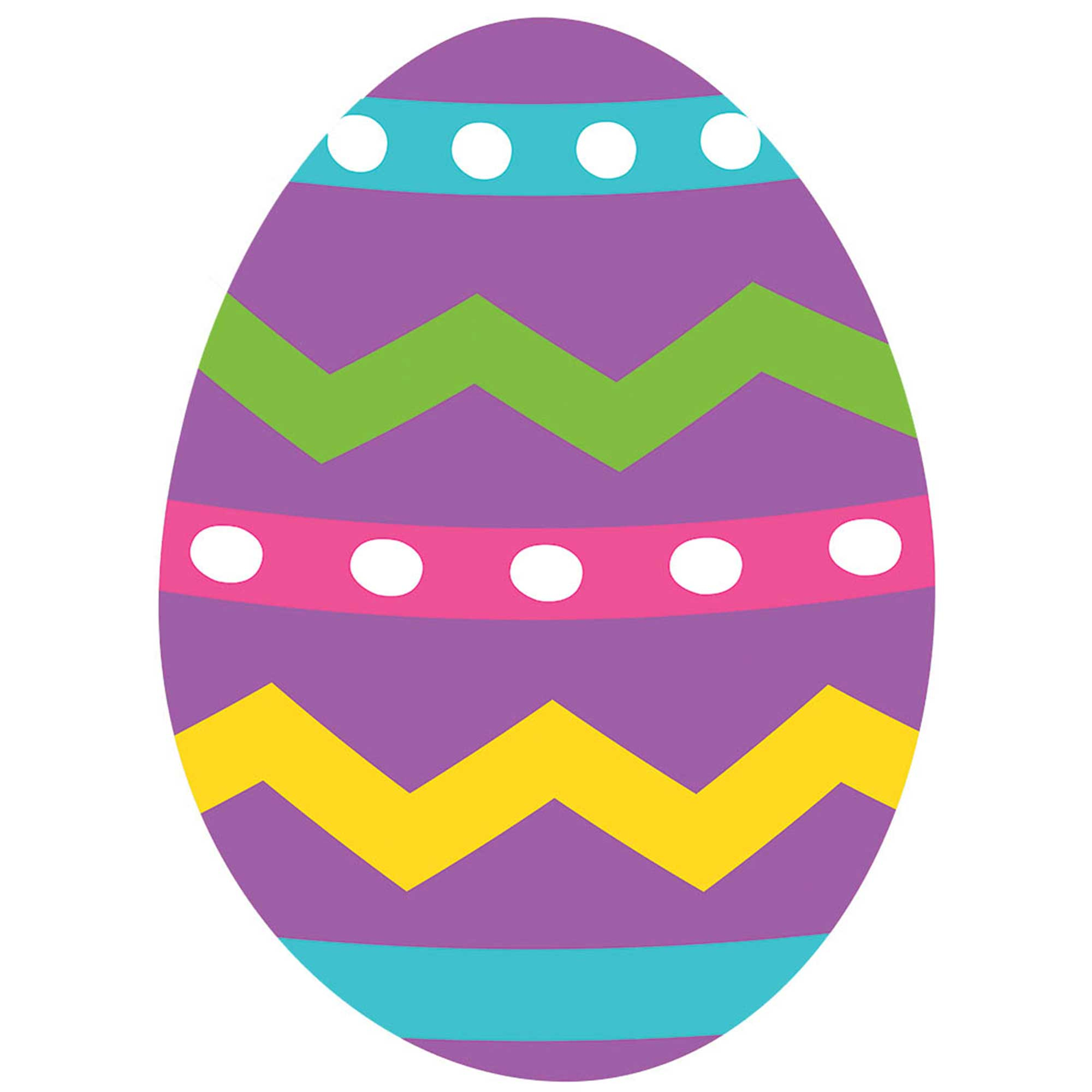 Easter Egg Cutout 2-Sided Design