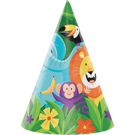 Jungle Safari Cone Shaped Party Hats