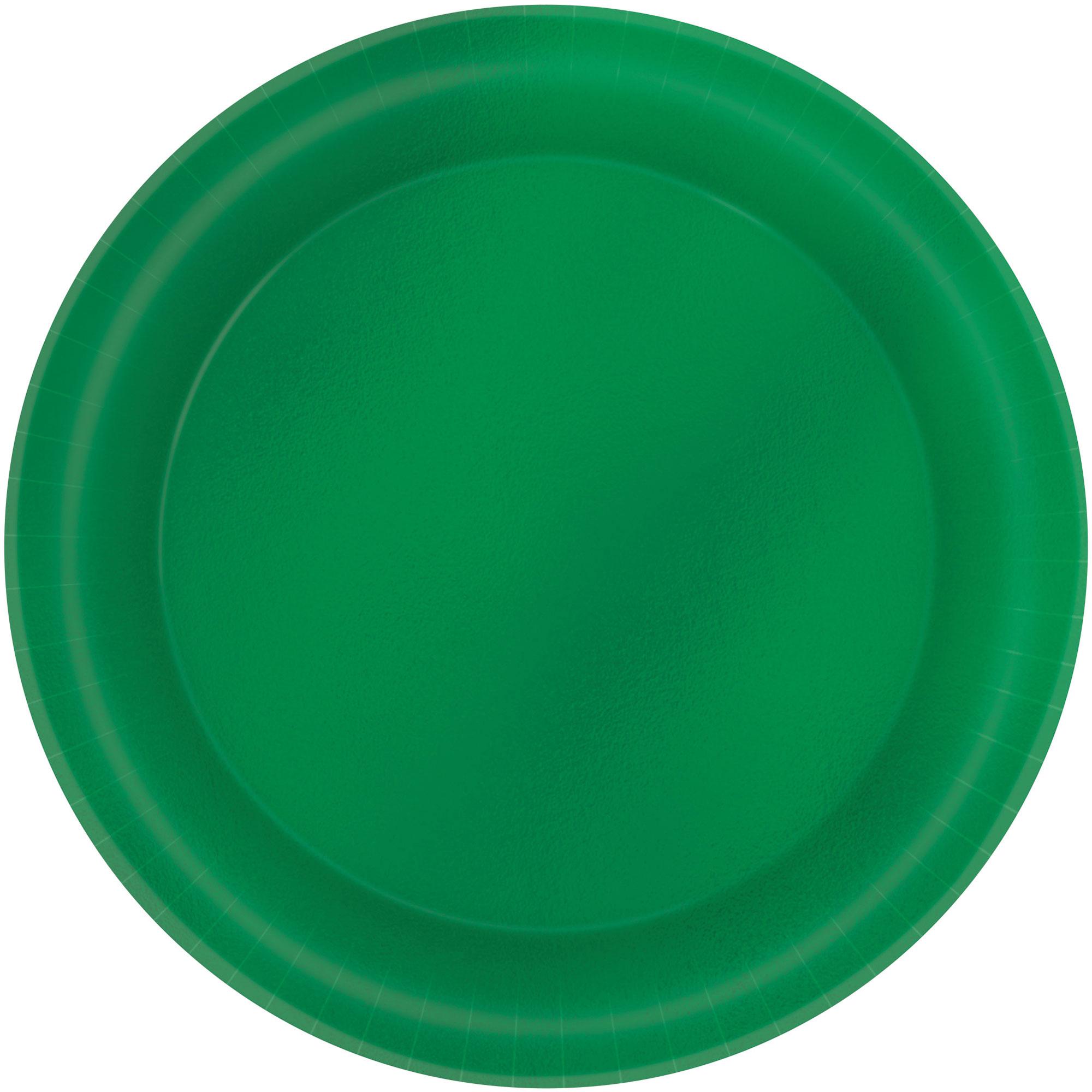 Metallic 17cm Festive Green Round Plates
