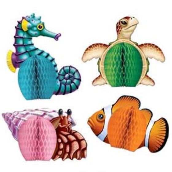 Mini Sea Creatures Honeycomb Centrepieces