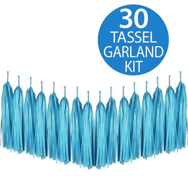 Tassel Garland Tissue Paper Turquoise