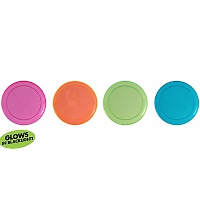 15cm Neon Lunch Plates Assorted Colours Plastic