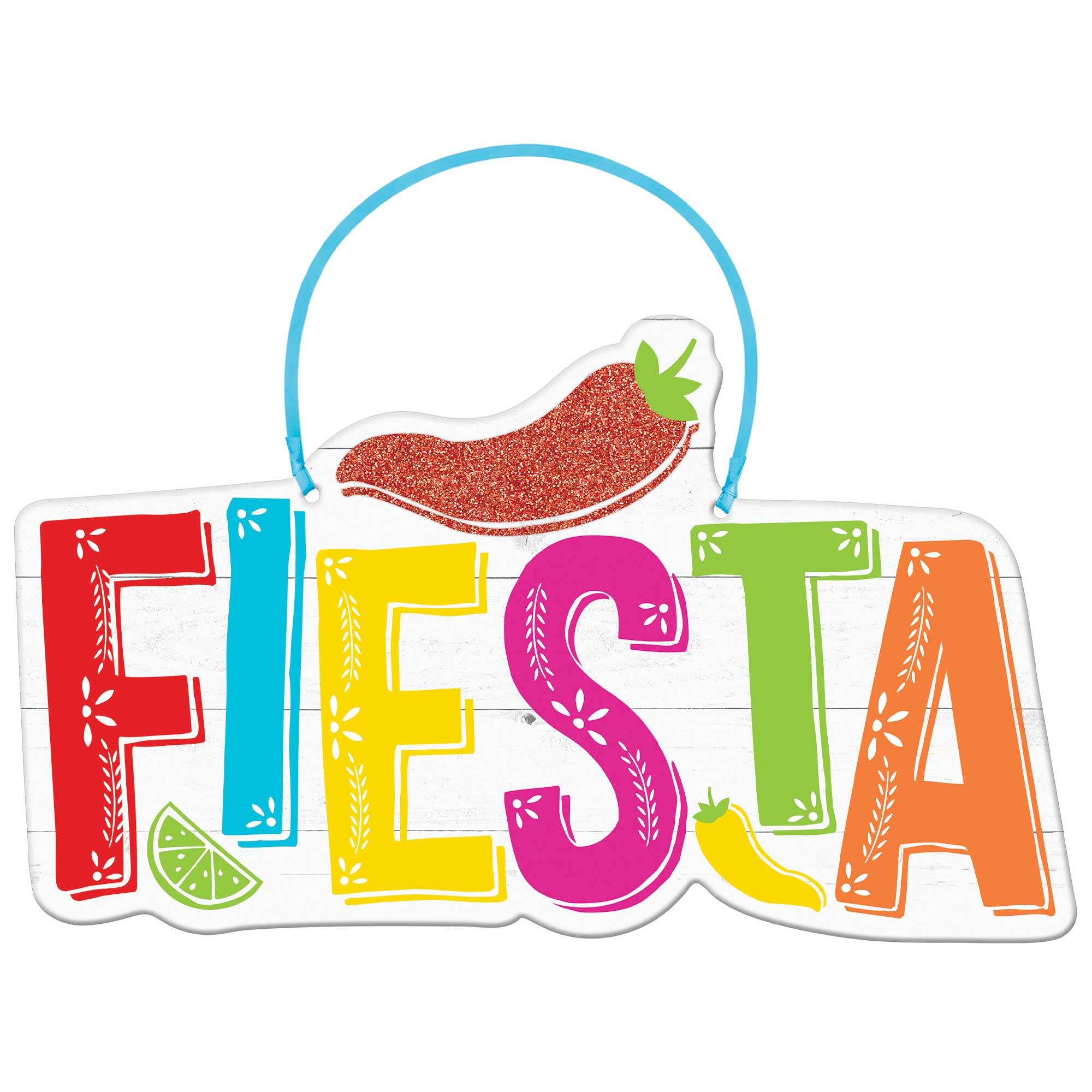 Fiesta Hanging MDF Sign