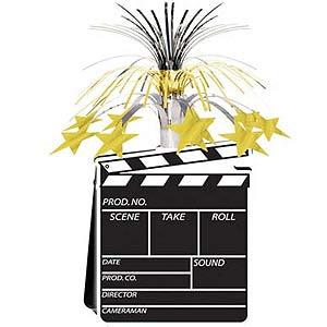 Movie Set Clapboard & Gold Stars Cascade Centrepiece