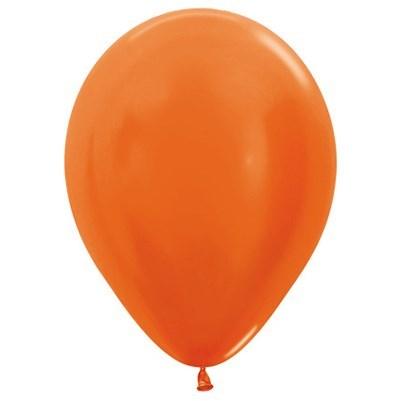 Sempertex 30cm Metallic Orange Latex Balloons 561, 25PK