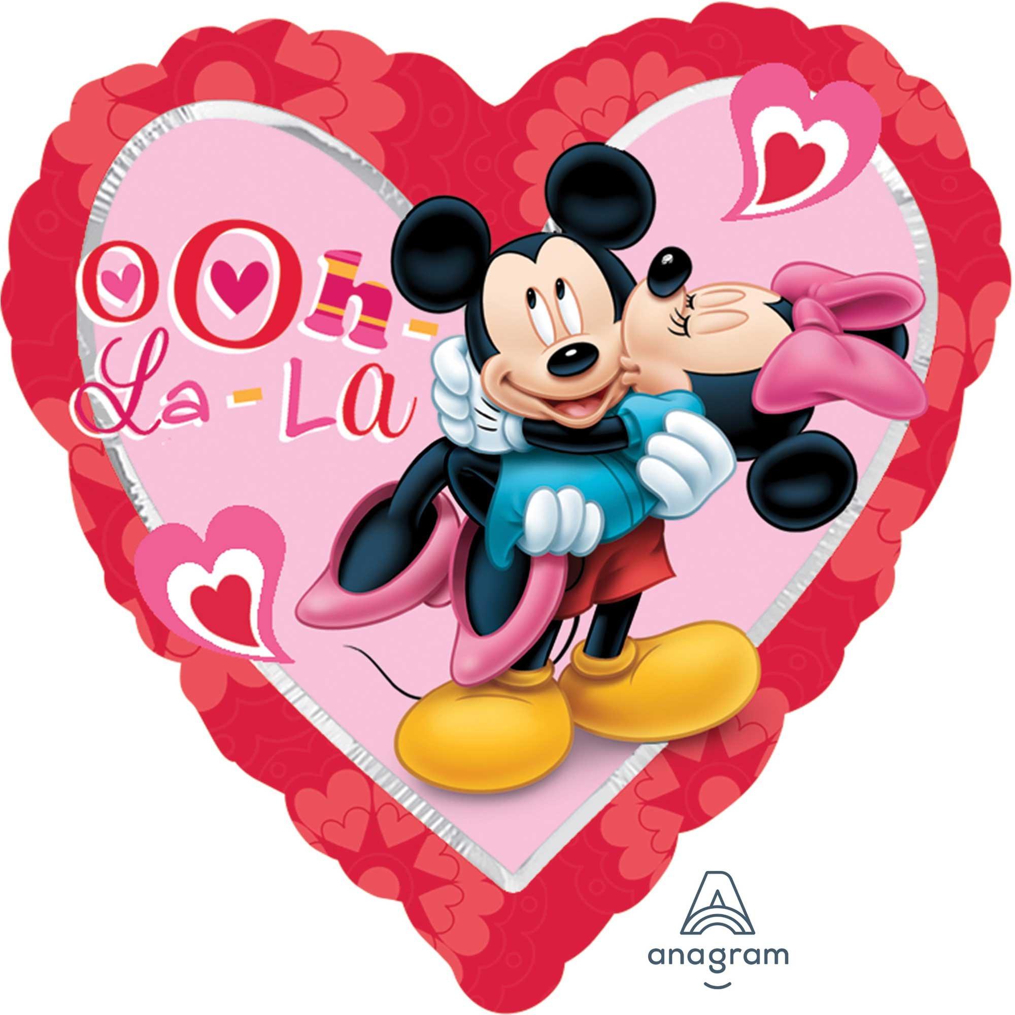 45cm Standard XL Mickey & Minnie Heart S60
