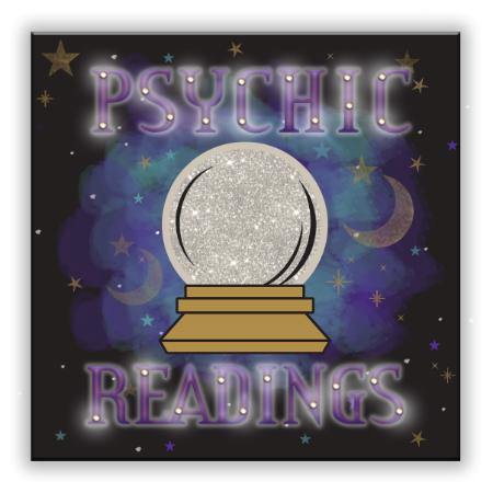 """""""Psychic Readings"""" Light Up MDF Plaque"