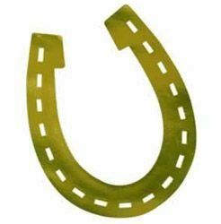 Horseshoe Gold Foil Silhouette Cutout