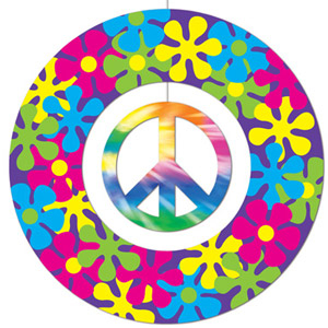 60's Peace Sign Hanging Decoration