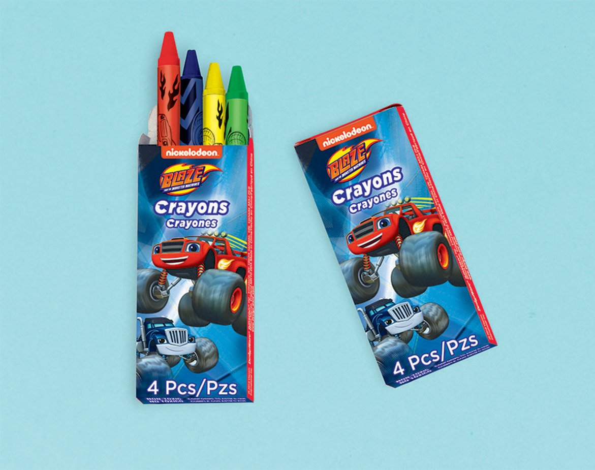 Blaze Mini Crayons Favor
