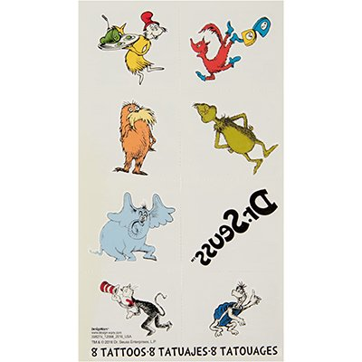 Dr.Seuss Tattoo Favor
