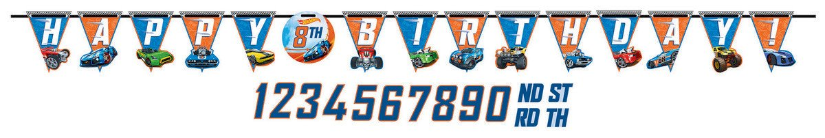 Hot Wheels Wild Racer Jumbo Add-An-Age Letter Banner - Printed Paper