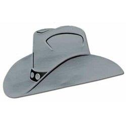 Cowboy Hat Silver Foil Silhouette Cutout