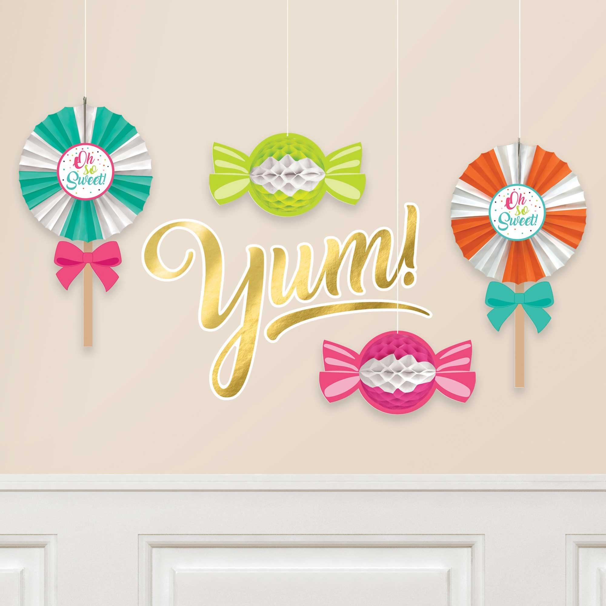 Sweets & Treats Honeycomb & Fans Decorating Kit