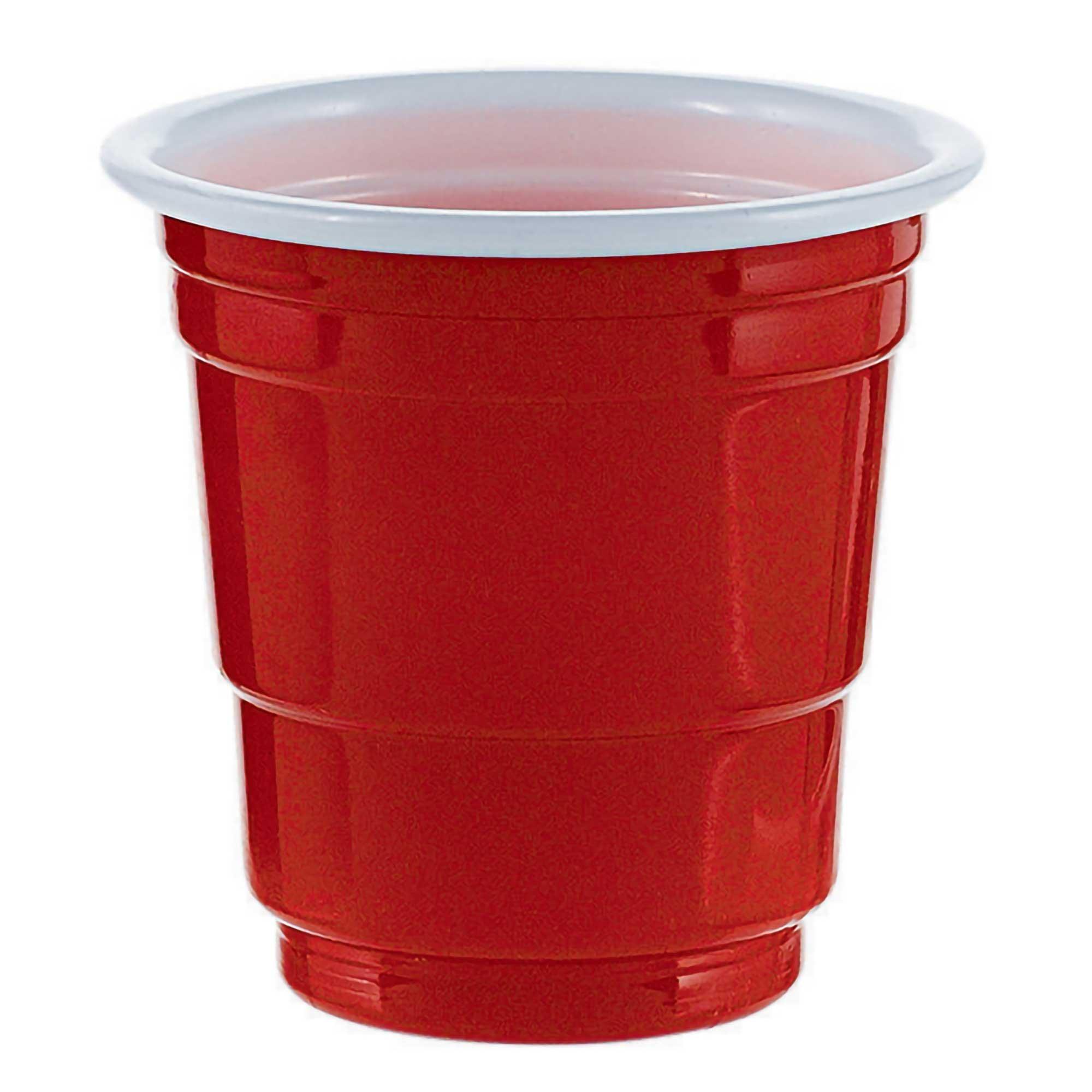 Shot Glasses Red - Plastic