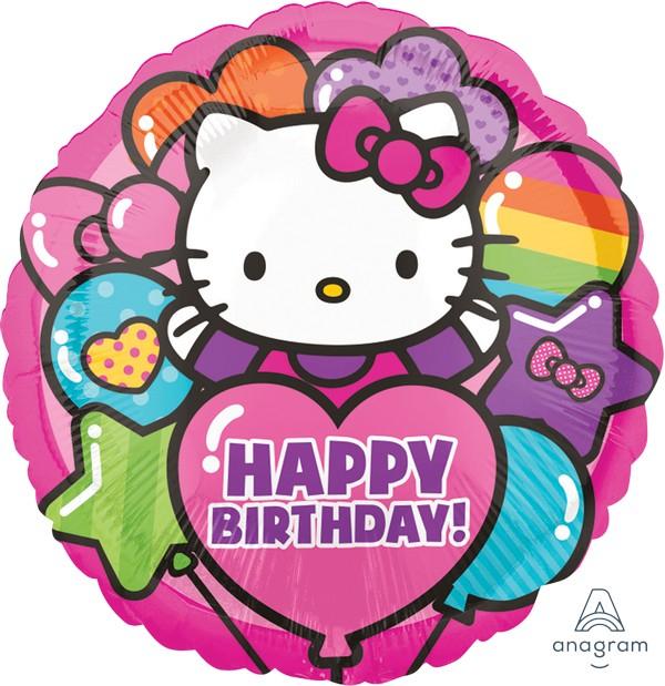 45cm Standard HX Hello Kitty Rainbow Happy Birthday S50