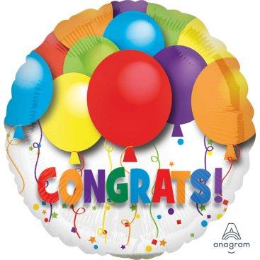 10cm Bold Congratulations Balloons A10