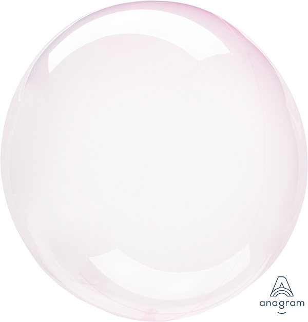 Crystal Clearz Light Pink Round Balloon S40