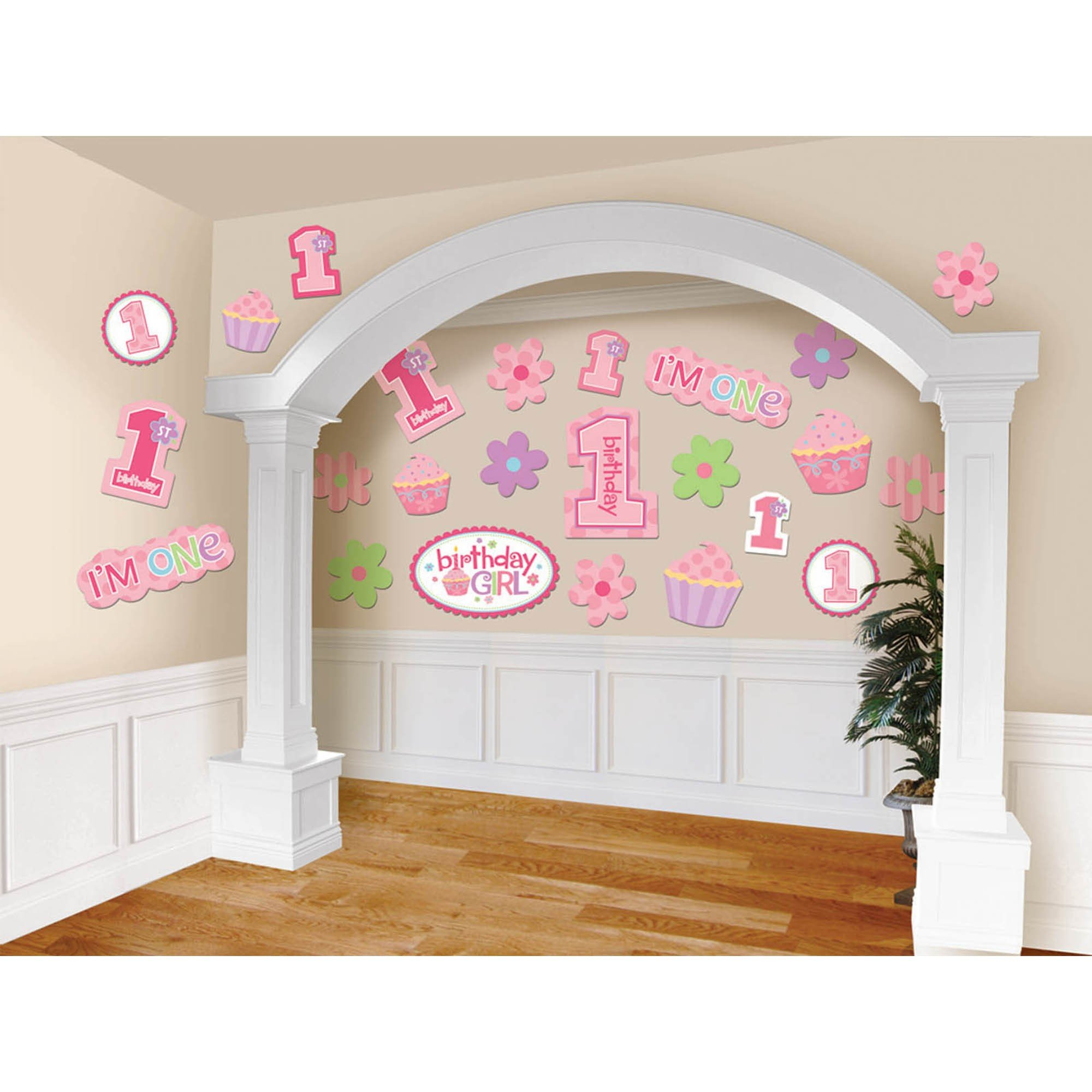 1st Birthday Girl Cutout Value Pack