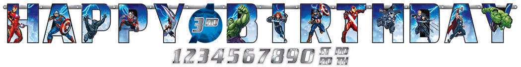Avengers Epic Jumbo Add-An-Age Letter Banner - Printed Paper