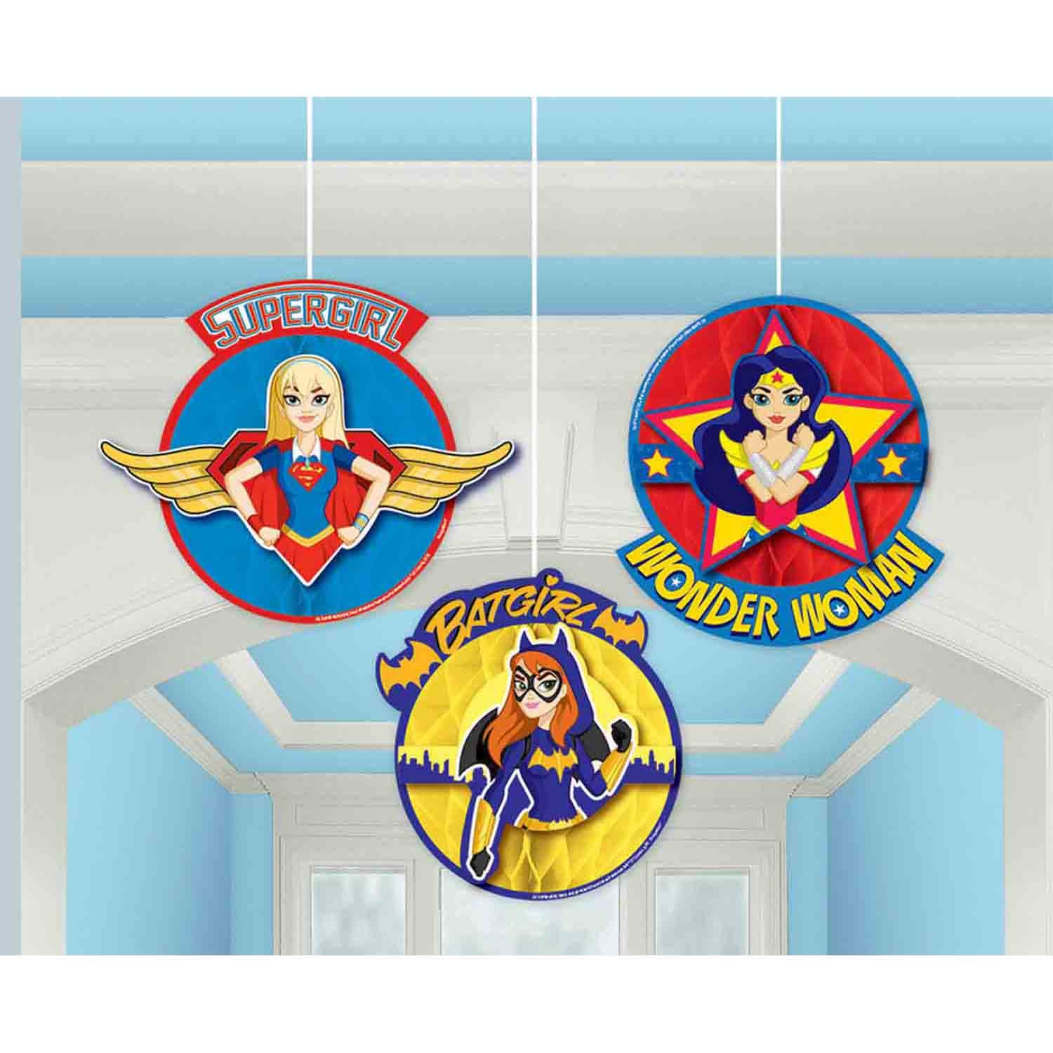 DC Superhero Girls Honeycomb Decorations