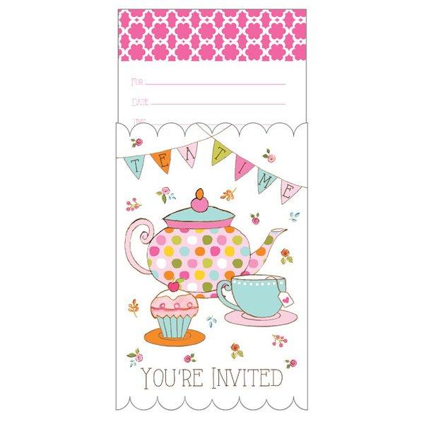 Tea Time Invitations Pop-Up