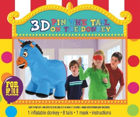 Inflatable Pin Tail Donkey Game