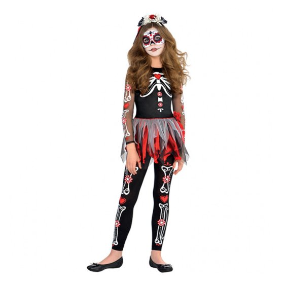 Costume Scared to the Bone Girls Large 8-10 Years