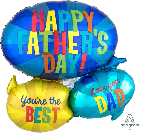 SuperShape Happy Father's Day Message Bubbles P35