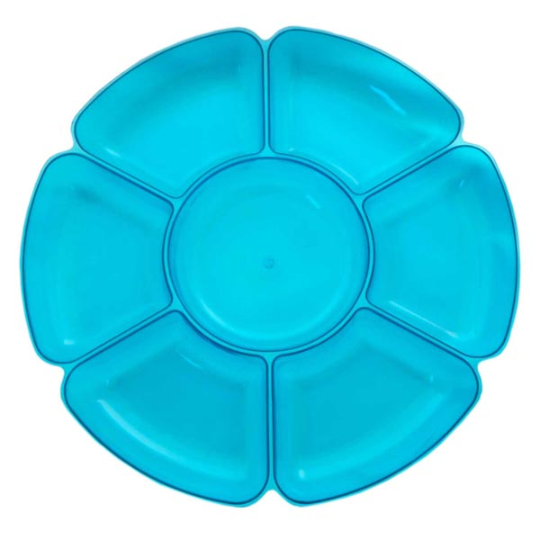 Platter Neon Blue with 7 Sections